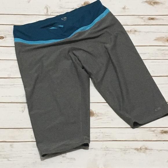 fae7079ba9c1 Champion Pants - Blue   Grey Crop Capri Workout Athletic Pants
